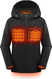 Women's Slim Fit Heated Jacket with Battery Pack and Detachable Hood