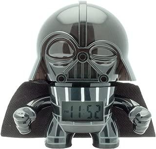 BulbBotz Star Wars 2020183 Darth Vader Kids Light up Alarm Clock | Black/Gray | Plastic | 3.5 inches Tall | LCD Display | boy Girl | Official