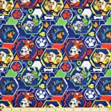 Paw Patrol Fabric Mission Pawsible in Navy Blue from David Textiles 100% Cotton Fabric by The Yard