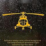 A/X Sticker de Carro 30733# Mi 8 helicóptero V3 Pegatina para Coche calcomanía Reflectante para Coche Pegatinas Impermeables en el Vinilo de la Ventana del Parachoques Trasero sin Fondo