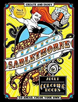 Sablethorne Tattoo Flash: Modern Tattoo Art Designs, Mermaids, Aliens, Pinups and More by [Sablethorne]
