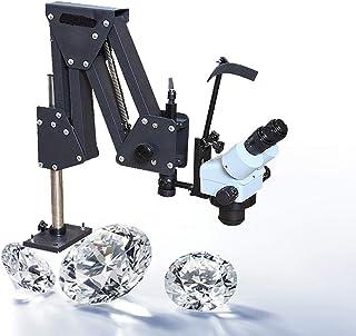Micro incrustaciones espejo Multidireccional microajuste microscopio joyería herramientas con soporte