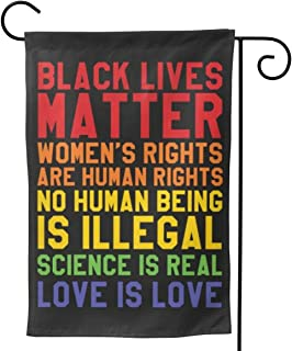 Black Lives Matter Garden Flag for Outdoor House Yard Decorative Summer Double Sided Flags Banner Patio Lawn Home Decoration Decor Signs