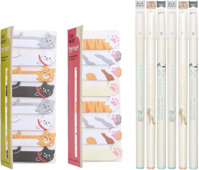 Cute School Supplies Paw Prints Adorable Cat Pens Kawaii Stationery