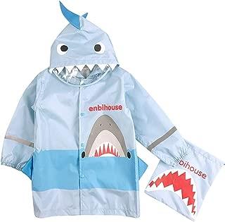 Kids Boy Girl Raincoat Rain Jacket Shark Lightweight Rainwear Rain Slicker Emergency Rain&Wind Coat Cloak Wear