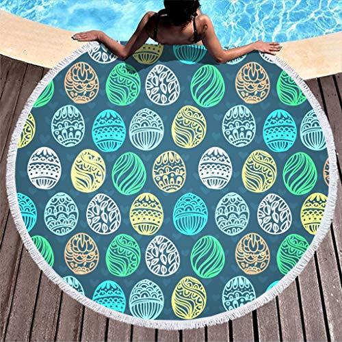 NeiBangM Roundie rond tafelkleed Easter Beach Blanket yogamat picknick mat strandlaken strandlaken