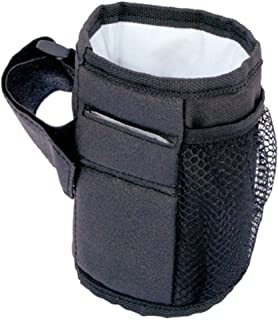Baby Stroller Organizer Cup Holders- Secured Fit, Extra Storage, Easy Installation - Universal Stroller Organizer for Mom (Black)