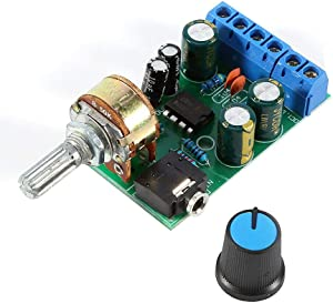 Walfront DC1.8-12V TDA2822M Amplifier 2 Channels Stereo 3.5mm AUX Audio Amp Board Module