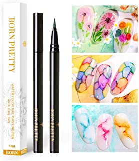 BORN PRETTY 6 Pcs Blooming Gel Polish Pen Water Color Nail Painting Pen Nail Art Design Blossoming Beauty Nail Art Design