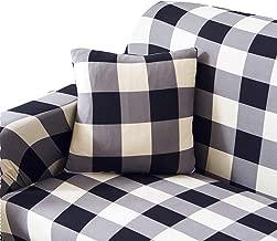 black and white sofa cover