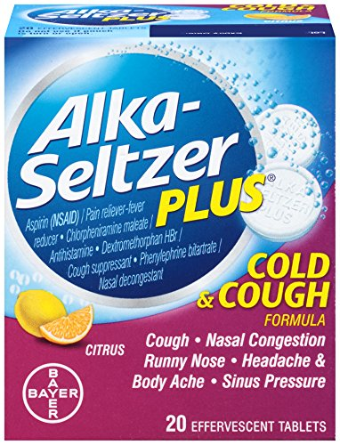Alka-Seltzer Plus Cold & Cough Effervescent, 20 Count (Pack of 2)
