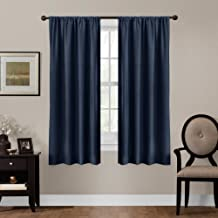 Maytex Smart Curtains Julius 100 Percent Blackout Window Panel, 50 x 84, 50 inches x 84 inches, Navy