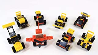 Construction Trucks Mini Brick Building Toy Cars, Building Blocks Toy Set, Racing Cars with Figures, Educational, Compatib...