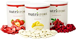 Freeze Dried Variety Fruit Sample Pack by Nutristore | Delicious Snack | 120 serving | 1 Month Supply | Survival Food