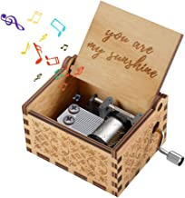 KIDTOY Hand Crank Wooden Music Box for Your Love - Best Birthday Gift