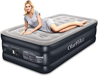 Twin Air Mattress with Built-in Pump XL Size for Guests, Inflatable Double High Elevated Airbed with Comfortable Top, Raised 18