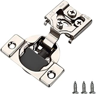 "Best Furniware 20 Pieces Soft Closing Cabinet Hinges, 3/4"" Overlay Cabinet Hardware Hinges Nickel Plated- 105 Degree Review"
