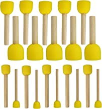 WAFJAMF 20-Pieces Assorted Size Round Sponges Brush Set, Paint Tools for Kids