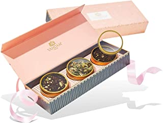 VAHDAM, Assorted Tea Gift Set - BLUSH, 3 Teas in a Tea Sampler Gift Box   OPRAH'S FAVORITE TEA 2018-100% Natural Ingredients - Holiday Gifts for Women   Gifts for Mom   Gifts for Grandma   Tea Sets