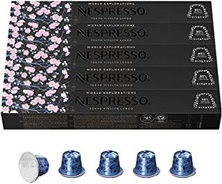 Nespresso Capsules OriginalLine, Tokyo Vivalto Lungo, Medium Roast Coffee, 50 Count Coffee Pods, Brews 3.7 Ounce