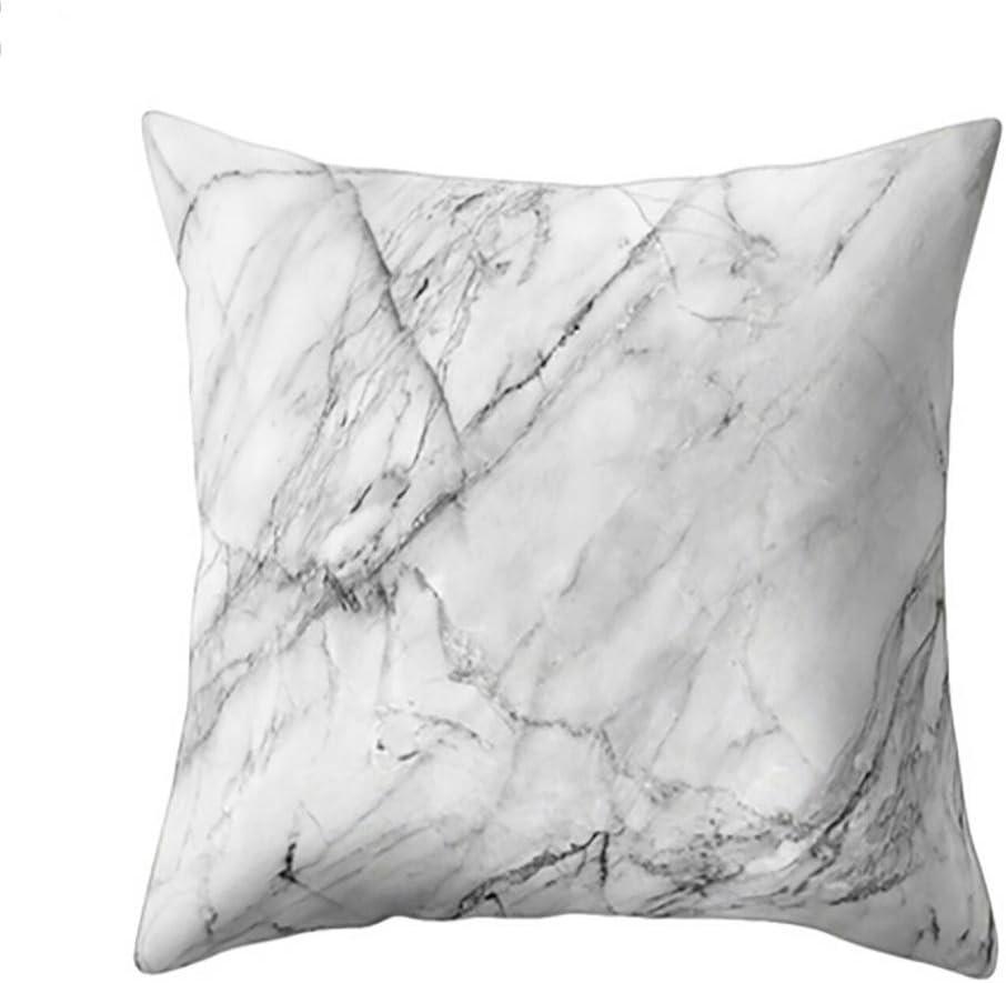 Logobeing Funda de Coj/ín Funda de Almohada Geom/éTrica de Textura de M/ármol Sofa Decoraci/ón F