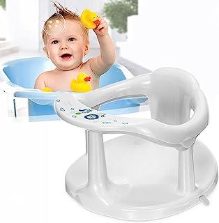 Baby Bath Seat, Portable Toddler Child Bathtub Seat for 6-18 Months,Newborn Baby Bath Seat,Infant Cute Bathtub Support,wit...