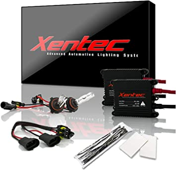 Xentec 9005 6000K HID xenon bulb x 1 pair bundle with 2 x 35W Digital Slim Ballast (Ultra White, also fit HB3, mainly used for high beam): image