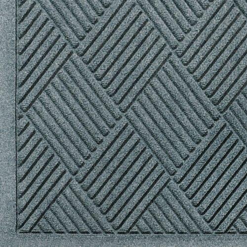M+A Matting - 221580034 WaterHog Fashion Diamond-Pattern Commercial Grade Entrance Mat, Indoor/Outdoor Medium Brown Floor Mat 4' Length x 3' Width, Bluestone by