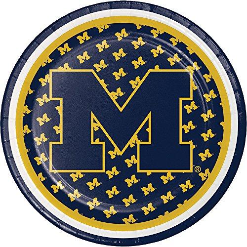 8-Count NCAA Dessert Paper Plates, Michigan Wolverines