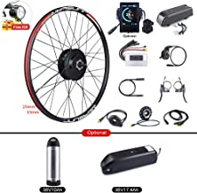 BAFANG Bike Conversion Kits 36V 250W Rear Hub Motor Kit Brushless Motor Electric Bike Kit Bicycle with LCD Display, Optional 36V 10Ah/17.4Ah Battery with Charger