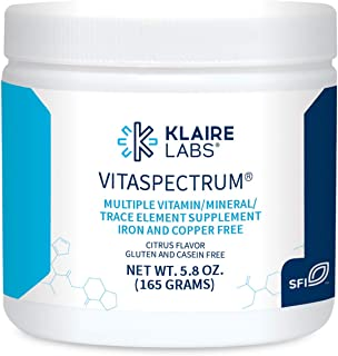 Klaire Labs VitaSpectrum Powder - Children's Multivitamin/Mineral with 23 Essential Nutrients in Citrus for Kids, No Coppe...