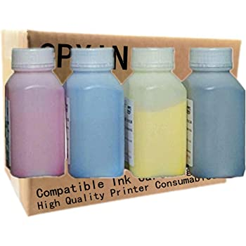 100g//Bottle,6 Black,6 Cyan,6 Magenta,6 Yellow No-name Refill Copier Color Laser Toner Powder for Brother TN315 TN325 HL4150 HL4750 MFC9460 MFC9560 MFC9970 TN-370 TN-378 TN-395 Toner Power Printer