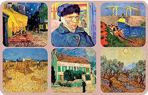Posavasos Francia Vintage 6 BAJO Vidrio Pintura Bock por EL Pintor Vincent Van Gogh 2
