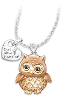 Bradford Exchange Women's Necklace: Granddaughter Owl Always Love You Pendant Necklace by The
