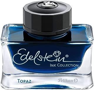 Pelikan Edelstein Bottled Ink for Fountain Pens, Blue Topaz, 50ml, 1 Each (339382)
