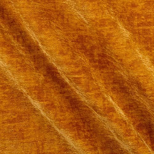 Upholstery Dynasty Chenille-Stoff, Goldfarben, Meterware