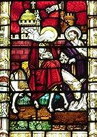 絵画風 壁紙ポスター (はがせるシール式) ステンドグラス 教会の窓 教会堂 西洋館 装飾 キリスト教 キャラクロ WSDG-006A2 (A2版 420mm×594mm) 建築用壁紙+耐候性塗料