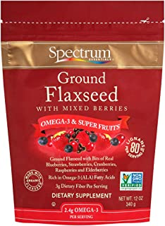 Spectrum Essentials Ground Flaxseed with Mixed Berries, 12 Oz