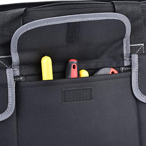 Práctica bolsa de herramientas gris Oxford tela portátil ajustable para almacenamiento de hardware