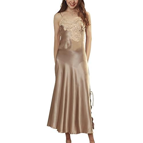 Dolamen Women s Nighties Satin Long 658259c8b