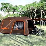 YXCKG Carpas Familiares para Camping, Tienda de campaña Familiar al Aire Libre de la Barbacoa, Carpa para 4-6 Personas, Carpas para 4 Estaciones, Festival Essential (Color : Brown)