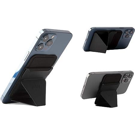 MOFT マグネットスマホスタンド MagSafe対応 iPhone 12シリーズ対応/iPhone 13シリーズ兼用 カードケース機能 フロートタイプ角度調節 薄型軽量 折り畳み式 複合材質 内蔵磁石 (ブラック)