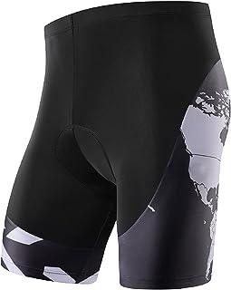 NOOYME Fietsbroek voor heren met zeem, 3D-fietsbroek voor heren, sneldrogende en elastische fietsbroek voor heren, verbete...