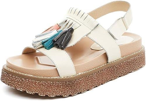 CJC Escarpins Sandales Femmes Plate-Forme Strappy Chunky Coin Plate-Forme Talon PiauleHommest Doigt de Pied Décontractée Chaussures 3-5 cm