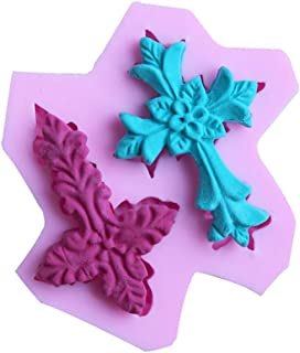 WDYJMALL Molde de silicona con forma de cruz para fondant para decoración de pasteles, molde