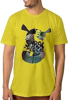 Custom Men's T Shirt Shre Musical Head Design SkyBlue