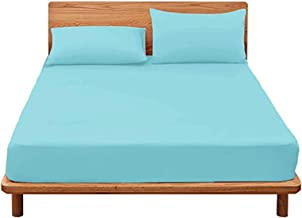 MHCYKJ Waterproof Bed Sheets Full Size Noiseless Premium Soft Cotton Terry Vinyl-Free Matressprotector Breathable Easy Cle...