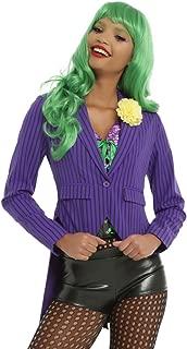 DC Comics Joker Purple & Black Pinstripe Jacket