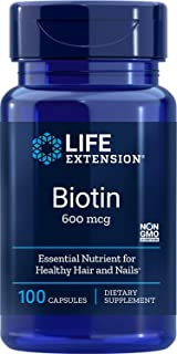 Life Extension Biotin 600 mcg, 100 Capsules (Packaging may vary)