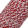 TinkSky Spago Filo di Cotone Decorazione per Regalo Spago da Cucina (Rosso Bianco) #5